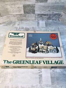 1983 The Greenleaf Village Kit 6 Pre-Cut Wood Buildings #8016 NOB NEW Christmas