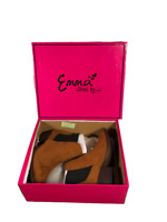 Emma  Ladies Ankle Boots Women Casual  Block Heel Faux Suede Auckland Brandy