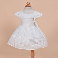 NUEVO de Bebé Niñas Algodón Vestido fiesta en Fucsia Amarillo Marfil 6 9 12 18