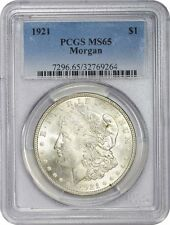 1921 Morgan Silver Dollar PCGS MS65