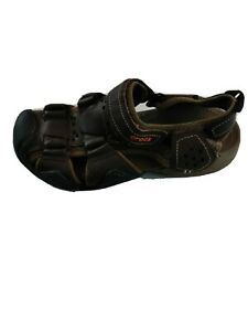 Crocs Swiftwater Mens Brown Leather Fisherman Sandals Size 7 204562