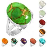 925 Sterling Silver Gemstone Ring Women Jewelry Size 5 6 7 8 9 10 11 12 13 qt641