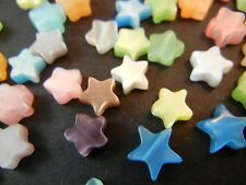 DA01 10pc 12mm Assorted Colours Millefiori Star Glass Beads