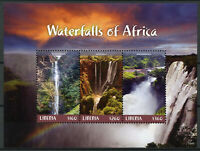 Liberia 2018 MNH Waterfalls of Africa Ozoud Falls 3v M/S I Landscapes Stamps