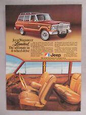 Jeep Wagoneer Limited PRINT AD -- 1979