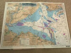 Nautical Chart / Map of New York Harbor New York / Raritan Bay, New Jersey