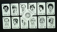 RARE MINT COND - MANCHESTER CITY set of 13 Bertcord BIG LEAGUE game cards 1982