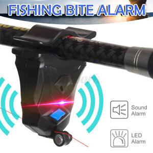 Electronic Fishing Bite Alarm Sound LED Light Alert Bell Clip-On Fishing