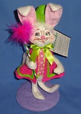 "Annalee Easter Parade Boy Bunny-6""Smiling face;bendable-baton/feathers NWT 2015"