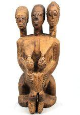Art Africain - Impressionnante Statue Maternité Lobi à 3 Têtes - 54 Cms ++++++++
