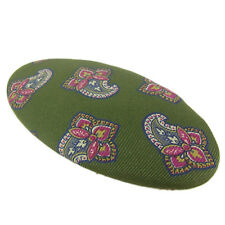 Auth ETRO Logos Paisley Pattern Cotton Barrette Hair Accessory F/S 2167
