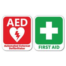 AED Defibrillator & First Aid Sticker Decal Safety Sign Car Vinyl