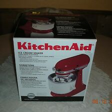 KitchenAid ICE CREAM MAKER Stand Mixer Attachment KICA0WH 2 Quarts *NEW*