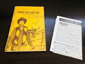 Barbed Wire Handbook For Collectors - Tommy  Turner, Western, Cowboy, Americana