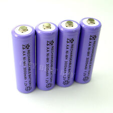 4pcs AA 2A 3000mAH 1.2V Rechargeable recharge Battery Solar Light