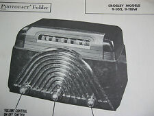 CROSLEY 9-102 & 9-118W RADIO PHOTOFACT