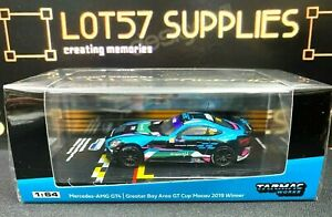 Tarmac Works 1:64 Scale 2020 Hobby64 Mercedes Benz AMG GT4 Greater Bay GT Winner