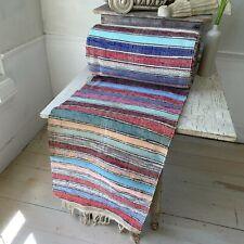 34.8 yards LONG Vintage European RAG RUG stair runner hallway carpet farmhouse