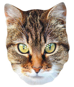Cat Animal 2D Single Card Party Mask - World Book Day Pet Puss Kitty