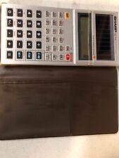 Vtg 1982 Sharp El-515S Solar Pocket Calculator w Case Scientific Working