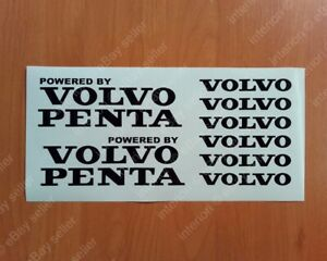 Powered by VOLVO PENTA Sport Racing Decals Stickers Window Emblems Logos Kit