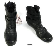 ELISANERO - Botines casi planas en piel negro 36.5 Itl 37.5 Fr - COMO NUEVO