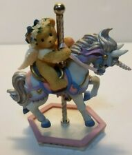 Cherished Teddies Carousel Crystal riding Horse Priscilla Hillman 1999