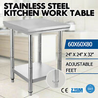 24 x 24 Stainless Steel Work Prep Table Kitchen Restaurant