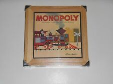New MONOPOLY Board Game Wooden Wood Box Nostalgia Series Parker Brothers 2002