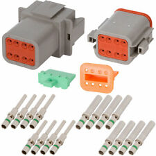Deutsch DT 8 Pin Gray Connector Kit w/ 14 AWG Solid Contacts