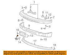 GM OEM Front Bumper-License Bracket Nut 3907444