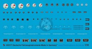 Peddinghaus 1/35 German Vehicle Instrument Faces and Markings WWII [Decal] 2317