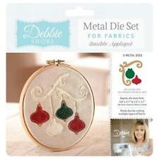 Crafters Companion Debbie Shore Fabric Dies Bauble Appliqué
