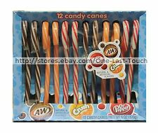 FRANKFORD^* 12pc Candy Canes SODA 6oz Box DR PEPPER+CRUSH+A&W ROOTBEER Exp. 7/20