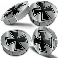 4 x 60mm Universal Car Wheel Centre Hub Cover Center Rims Caps Iron Cross Jesus