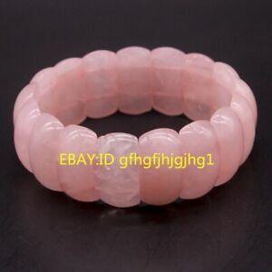 Fashion Natural Rose quartz round gemstone beads stretchable bracelet 8'' AA+
