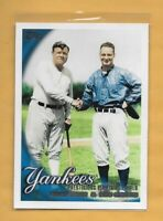 2010 Topps NY Yankees Prestigious Pinstripe Power Babe Ruth Lou Gehrig CL #637