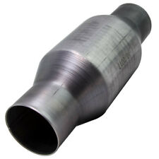 """410250 2.5"""" Inlet Outlet Universal Stainless Catalytic Converter 4"""" Round - 1995"""