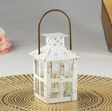 White Mini Lantern Vintage Theme Rustic Wedding Table Decor Party Favors MW36904