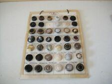 Antique Vintage Carved Bakelite Button Set Large Lot Store Display Card