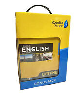 Rosetta Stone Learn English American Lifetime Subscription Bonus Pack New Sealed