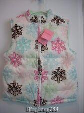 Gymboree WINTER BALLERINA White Snowflake Puffer Vest Girl Size M Medium 7 - 8