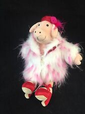 Jellycat Posh PIGGY/Pig Faux Fur Coat High Heeled Satin Shoes Soft Toy RARE