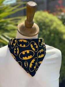 Spiderman Batman Dog Bandana Neckerchief Slide on Collar Scarf Neck Tie