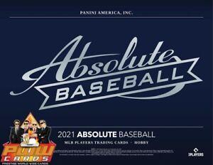 SEATTLE MARINERS 2021 Panini Absolute Baseball 5-Box Half Case Break #4