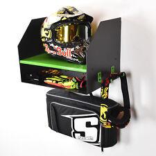 Kawasaki Green Motocross Motorcycle Motox Bike Helmet Storage Shelf Cabinet Unit