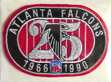 ATLANTA FALCONS ~ 25th ANNIVERSARY NFL TEAM PATCH ONLY Willabee & Ward WORN 1990