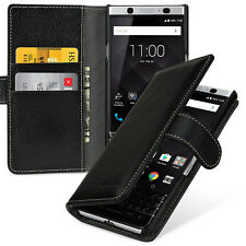 TETDED Premium Leather Case for BlackBerry KEYone Gerzat (LC: Black) Book Case