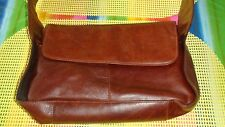 """""""Carroll Collection"""" Brown Leather Shoulder bag w/ 5 Compartments~10"""" x 6"""" NWOT"""