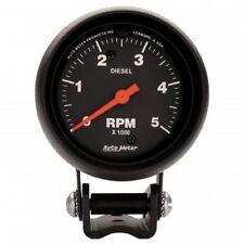 "Autometer 2888 Pedestal 2-5/8"" Universal Tachometer 0-5000 RPM Gauge for Diesel"